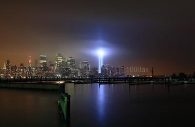 عکس سفینه ای بر فراز شهر نیویورک